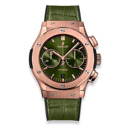 hublot CLASSIC FUSION KING GOLD GREEN 45 MM CRONOGRAFO