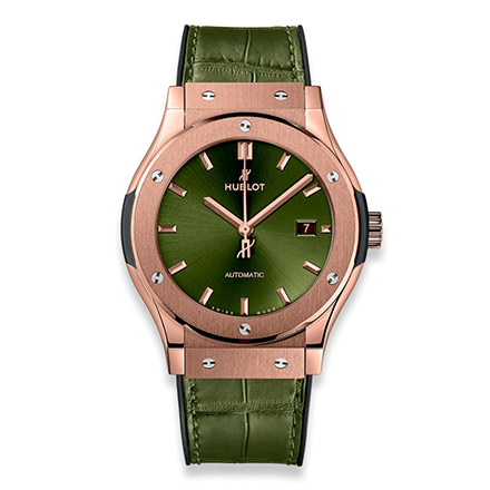 hublot CLASSIC FUSION KING GOLD GREEN 42 MM