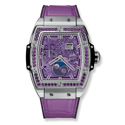 hublot MOONPHASE TITANIUM PURPLE 42 mm