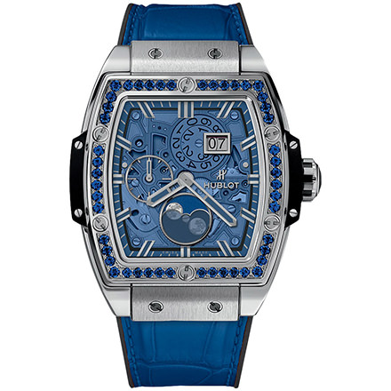 hublot MOONPHASE TITANIUM DARK BLUE 42 mm
