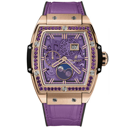 hublot MOONPHASE KING GOLD PURPLE 42 mm