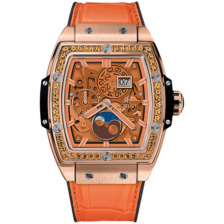 hublot MOONPHASE KING GOLD ORANGE 42 mm
