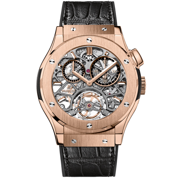 hublot Tourbillon Skeleton King Gold