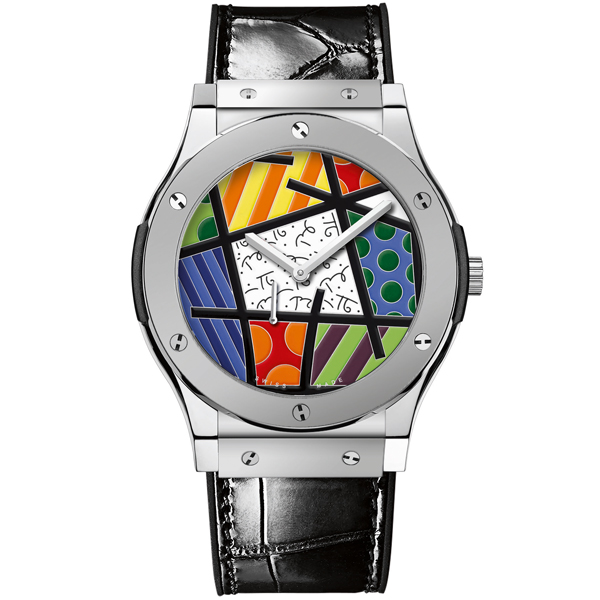 hublot Ultra-Thin Enamel Britto Platinum