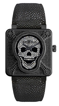 BR 01 LAUGHING SKULL FULL DIAMONDS