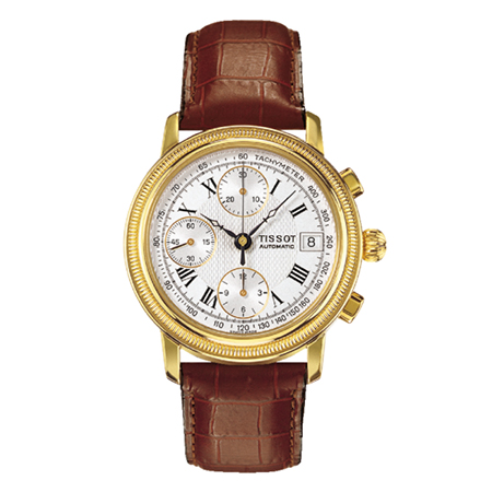 TISSOT BRIDGEPORT AUTOMATIC VALJOUX 18K GOLD
